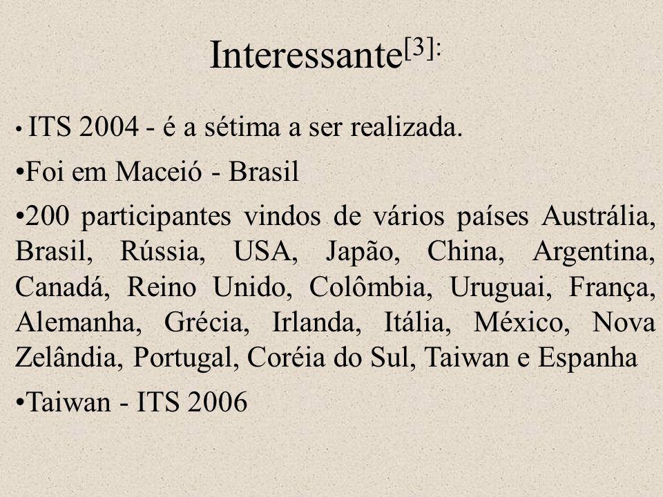 Interessante[3]: Foi em Maceió - Brasil